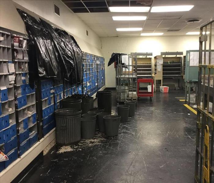 Post office with water damage