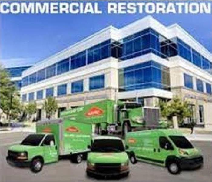 Commercial Work place water damage restored by SERVPRO!